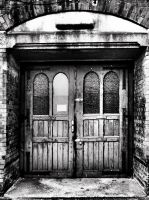 old hospital door by Humie