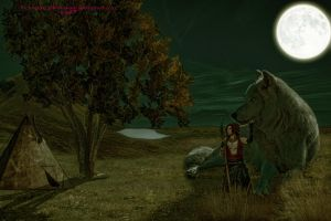 Red and Her Wolf by Branka-Johnlockian