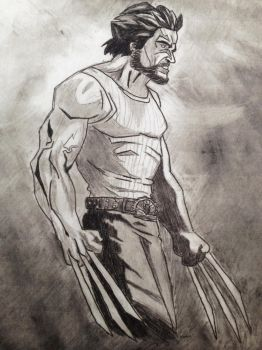 Logan (Hugh Jackman) by gryflepuff-geek