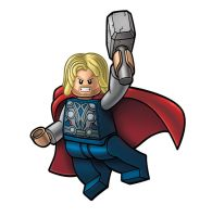 Avengers Lego packagin - THOR by RobKing21