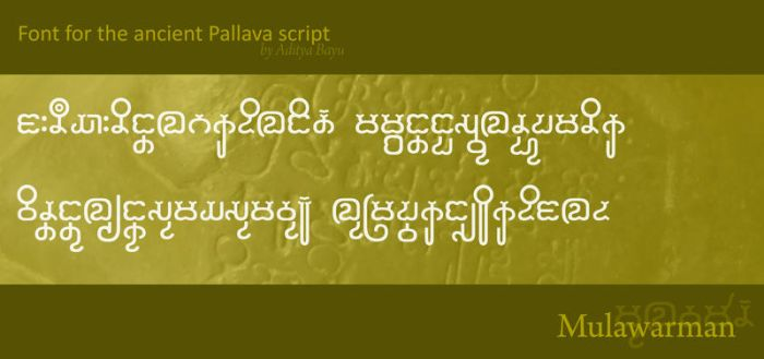 Ancient font: Mulawarman by Alteaven
