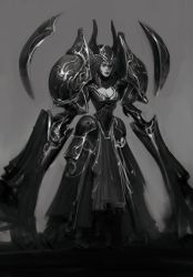 Lady with Big Armor. by Robotpencil