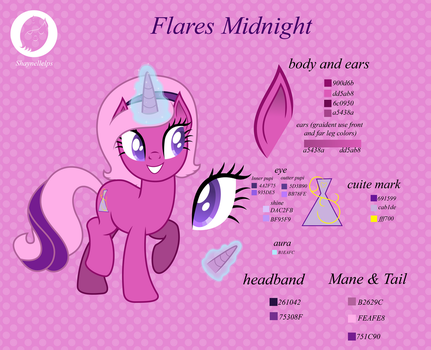 Flares Midnight Color Guide 2015 by illumnious