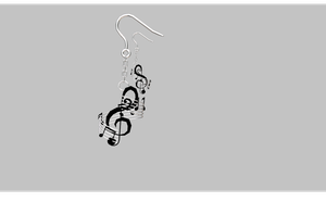 MMD Musical Earrings by amiamy111