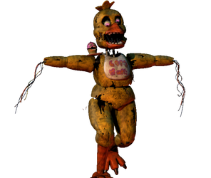 Stylized Withered Chica Walk Cycle by toasted912