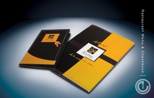 Restaurant menu and checkbook by emtgrafico