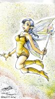 Yellow faerie - High caves by LadyCat17
