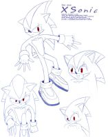 XSonic's Beta Model Sheet by xsonic