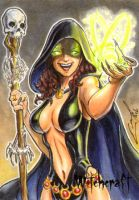 Witchcraft Sketch Card - Eric McConnell 1 by Pernastudios