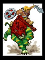 He-Man and Battlecat by lordmesa