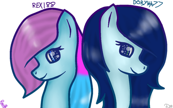 [Collab] Rexi88 and Doryna77 by xSoundBerry