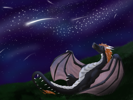 Shooting Stars [Completed YCH] by Sketched-Dragons