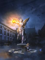 Under the protection of an angel by AlexanderKorolev