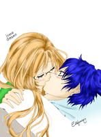 Coloreado de Steph y Romeo by Estefania-C
