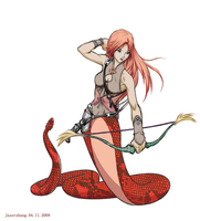 Kainey the archer colored by jaserzhang