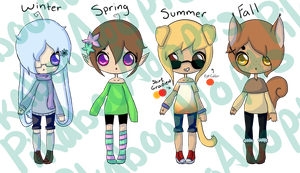 Adopt Batch #12 Seasons {{CLOSED}} by PikabooAdopts