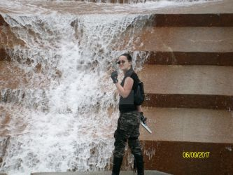 Lara Croft AOD Waterfall by KatyeBear