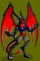 Anthro Dragon for contest by LoneWolf-dragon