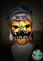 Pumpkin facepaint by Face-Invaders