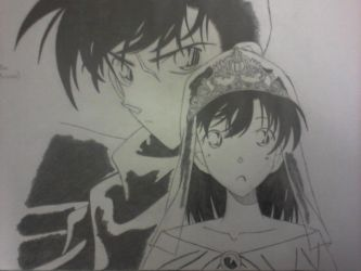 Kudo Shinichi and Mouri Ran by yuukadesu