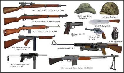 ww2 US ARMY and USMC individual weapons by AndreaSilva60