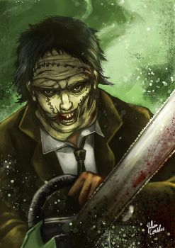 Leatherface like a thug! by DeDorgoth