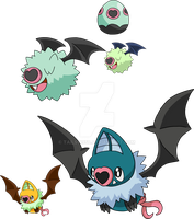 527 and 528 - Woobat Evolutionary Family