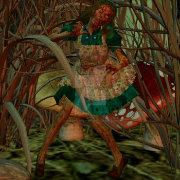 Zombified Alice in Wonderland by QueenFlamewing