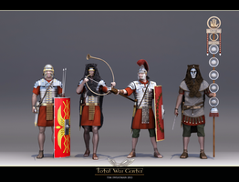 Roman Soldiers by haloband