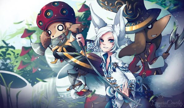 Blade and Soul - The Pot Dog Adventurers by Cowslip