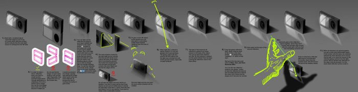 shadow reflection tutorial #0001 Learnuary by danimation2001
