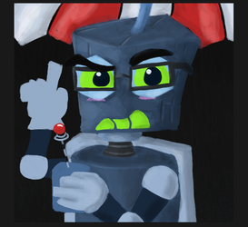 Unfinished Robot Painting by toontownloony