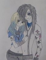 Andy Biersack and Juliet Simms III by kittykatc666