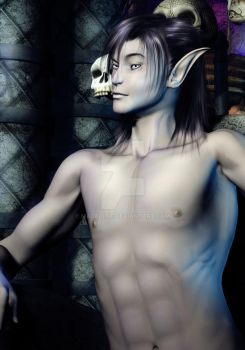 Elven Boy 2 -implied nudity- by macelene