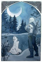 Moonlit Encounter: The Witcher by miggetymary