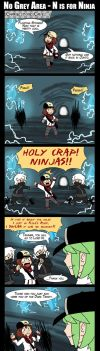 No Grey Area - N is for Ninja by tazsaints