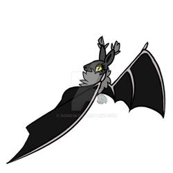 Day 15 and 16 Black and Bat Wings by Song18