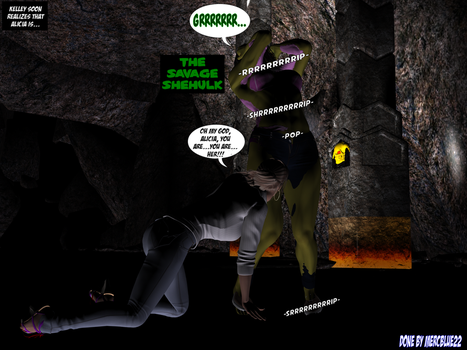 Savage She-Hulk in 'Trapped Inside A Cave' TF Pg 2 by mercblue22