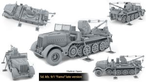 Sd kfz 9/1 (Famo) late version by Opara