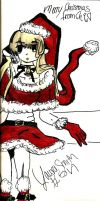 Chobits Christmas by gwengurlie
