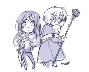 FC - Hungary Prussia Chibi by oneoftwo