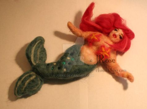 Felted Mermaid by Jodee