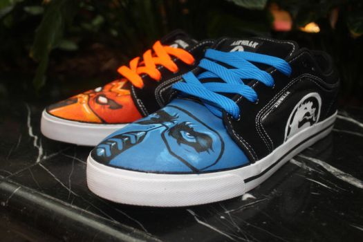 Mortal Kombat Left Shoes by Harpo-exe