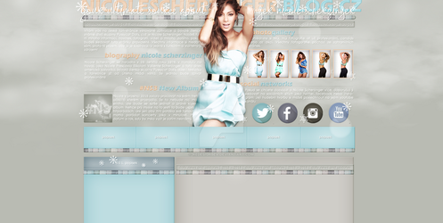 Ordered layout with Nicole Scherzinger by redesignbea