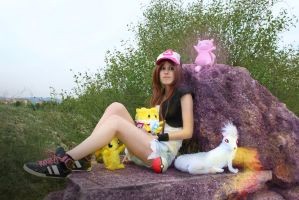 cosplay hilda from pokemon 4 by Lucy-Dark-Dreams