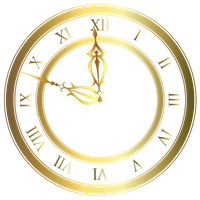 Clock gold vector by Lyotta