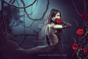 Between Thorn and roses by jiajenn