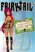 Scarlet Fairy Tail card by RosenAngel