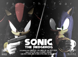 Sonic The Hedgehog Movie (fake) Poster by DjSMP