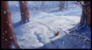 Muriel Mouse - Fighting Winter's cold by Chris-Karbach